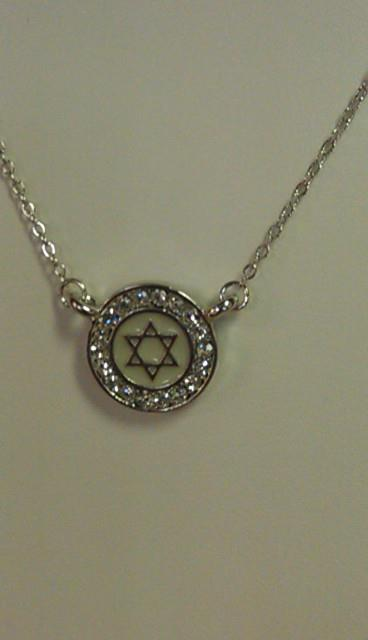 Australian Crystal Jewish Star Necklace